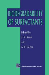 Biodegradability of Surfactants