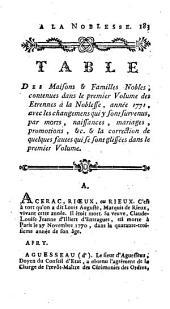 Etrennes de la noblesse, ou Etat actuel des familles nobles de France, et des maisons et princes souverains de l'Europe: Volume2