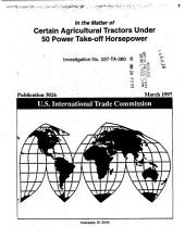 Certain Agricultural Tractors under 50 Power Take-off Horsepower, Inv. 337-TA-380