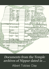 Documents from the Temple Archives of Nippur Dated in the Reigns of Cassite Rulers: Volume 1, Issue 2
