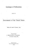 Catalogue of United States Public Documents PDF