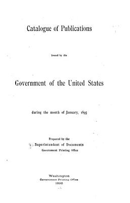 Catalogue of United States Public Documents PDF