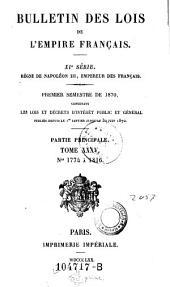 Bulletin des lois de la Republique Francaise: Volume11;Volume1831;Volume1835;Volume1870