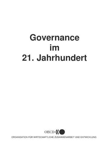 Governance im 21  Jahrhundert PDF