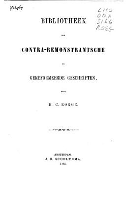 Beschrijvende catalogus der pamfletten verzameling van de boekerij der Remonstrantsche Kerk te Amsterdam PDF