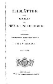 Beiblätter zu den Annalen der Physik: Band 13