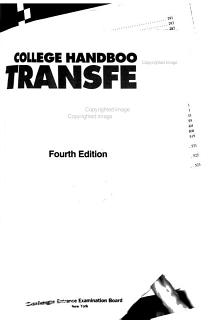 The College Handbook for Transfer Students Book