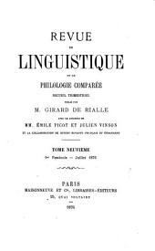 REVUE DE LINGUISTIQUE ET DE PHILOGIE COMPAREE