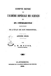 Compte rendu de l'Académie Imperiale des Sciences