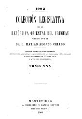 Colección legislativa de la República Oriental del Uruguay: Volumen 25