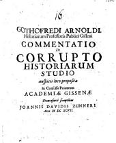 Commentatio de corrupto historiarum studio