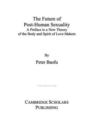 The Future of Post human Sexuality PDF