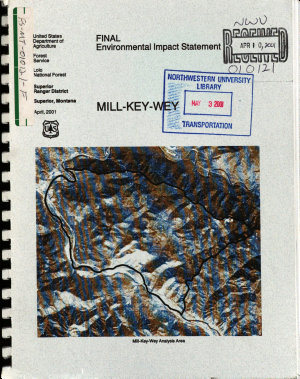 Lolo National Forest  N F    Mill Key Wey  Superior Ranger District  Mineral County  Montana