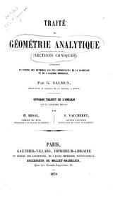 Traité de géométrie analytique: sections coniques