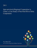 Inter Provincial Regional Cooperation in China PDF