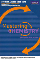 MasteringChemistry and Reg     Standalone Access Card    for Fundamentals of General  Organic  and Biological Chemistry PDF