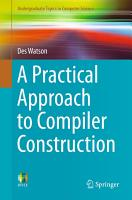 A Practical Approach to Compiler Construction PDF