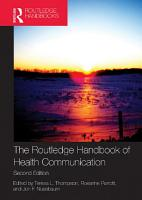 The Routledge Handbook of Health Communication PDF