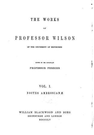 Noctes ambrosianae PDF