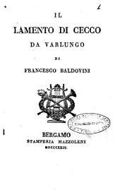 Il lamento di Cecco da Varlungo, di Francesco Baldovini