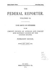 The Federal Reporter: Cases Argued and Determined in the Circuit and District Courts of the United States, Volumes 65-66