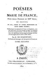 Poésies de Marie de France: Fables. Le purgatoire de Saint-Partice