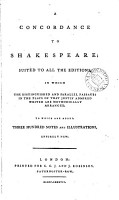 A Concordance to Shakespeare PDF