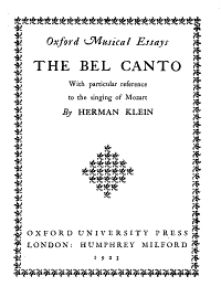 The Bel Canto Book