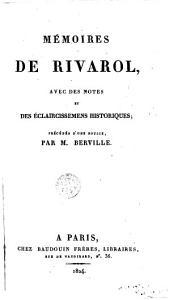 Mémoires de Rivarol: avec des notes et des éclaircissemens historiques
