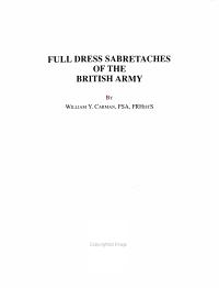 Full Dress Sabretaches of the British Army PDF