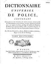 Dictionnaire universel de police