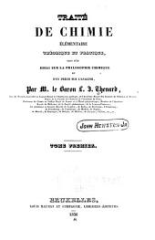 Traité de chimie élémentaire, théorique et pratique: suivi d'un essai sur la philosophie chemique et d'un précs sur l'analyse, Volume1