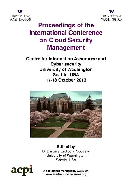 ICCSM2013 Proceedings of the International Conference on Cloud Security Management PDF