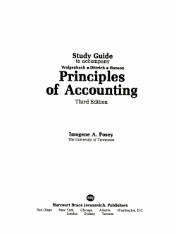 Study Guide to Accompany Walgenbach  Dittrich  Hanson  Principles of Accounting  Third Edition PDF
