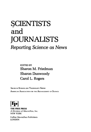 Scientists and journalists