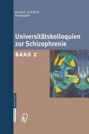 Universit  tskolloquien zur Schizophrenie PDF