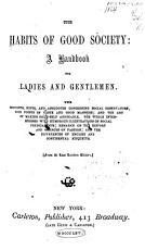 The Habits of Good Society PDF
