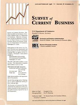 Survey of Current Business PDF