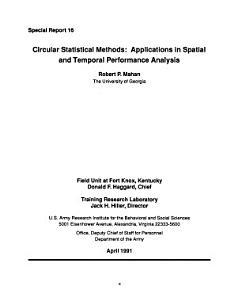 Circular Statistical Methods PDF