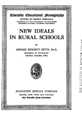 New Ideals in Rural Schools