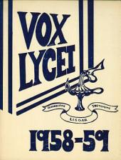 Vox Lycei 1958-1959