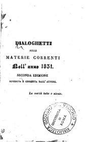 Dialoghetti sulle materie correnti dell'anno 1831