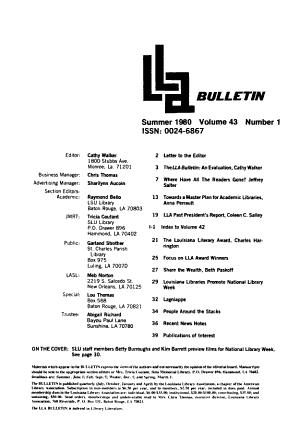 LLA Bulletin