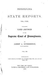 Pennsylvania State Reports: Volume 108