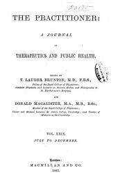 The Practitioner: Volume 29