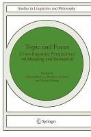 Topic and Focus PDF