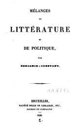 Mélanges de littérature et de politique