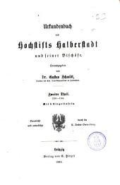 Urkundenbuch des Hochstifts Halberstadt und seiner Bischöfe: th. 1236-1303