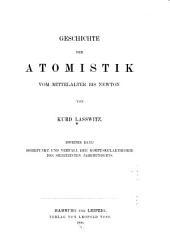 Geschichte der Atomistik vom Mittelalter bis Newton: Band 2