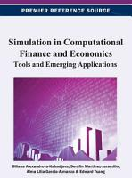 Simulation in Computational Finance and Economics  Tools and Emerging Applications PDF